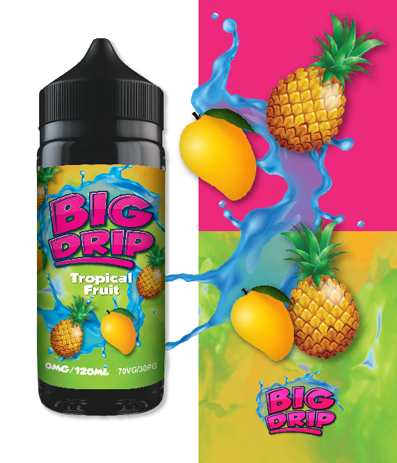 Tropical Fruit Big Drip – Inc Free x2 15mg Nic Shot
