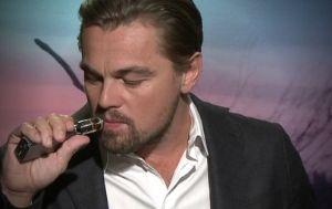 Leonardo DiCaprio using an e-cigarette
