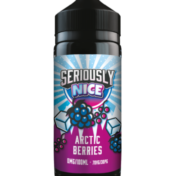 Seriously Nice Arctic Berries E-liquid Shortfill. A Tasty mix of Succulent Blue and Red Berries perfectly combined making this a Berry Nice Flavour!